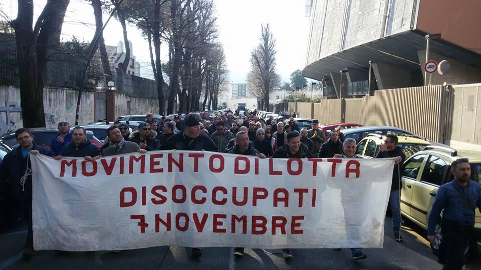 """Movimento Disoccupati 7 Novembre:""""Vogliamo risposte concrete dalla Regione!"""""""