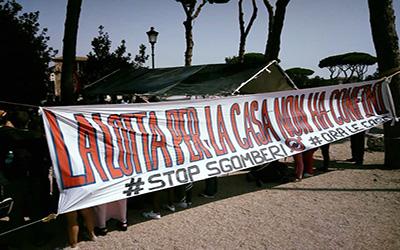 La lotta contro gli sgomberi continua! Libertà per gli arrestati di Piazza indipendenza!