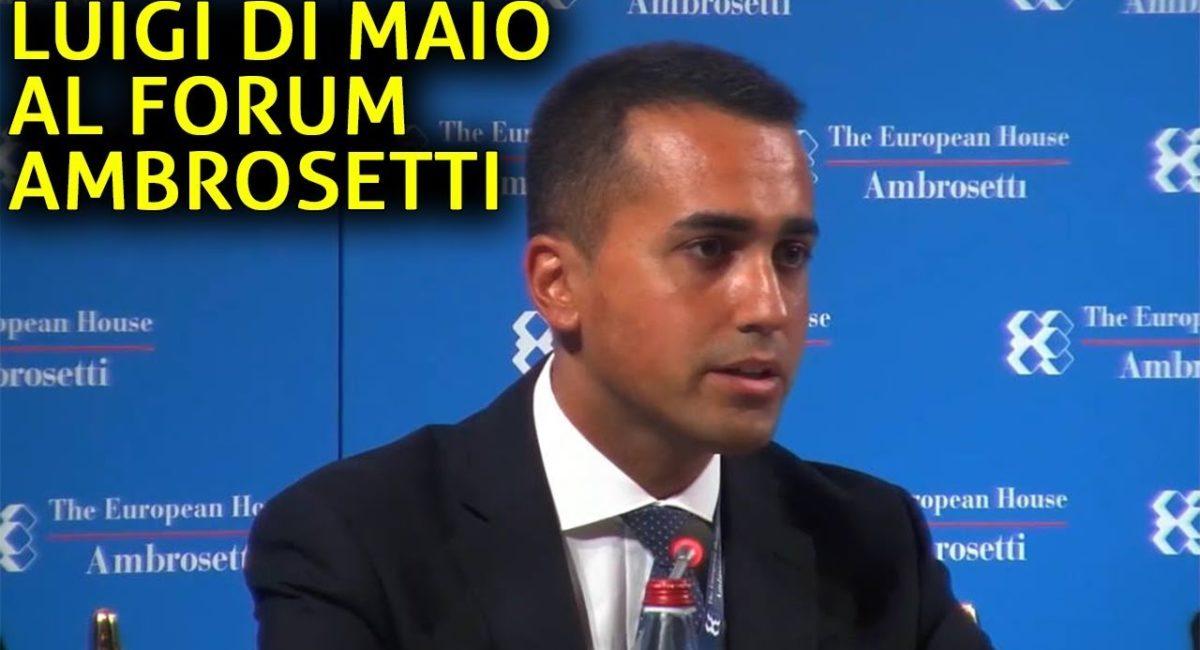 Di Maio al forum Ambrosetti giura fedeltà al grande capitale
