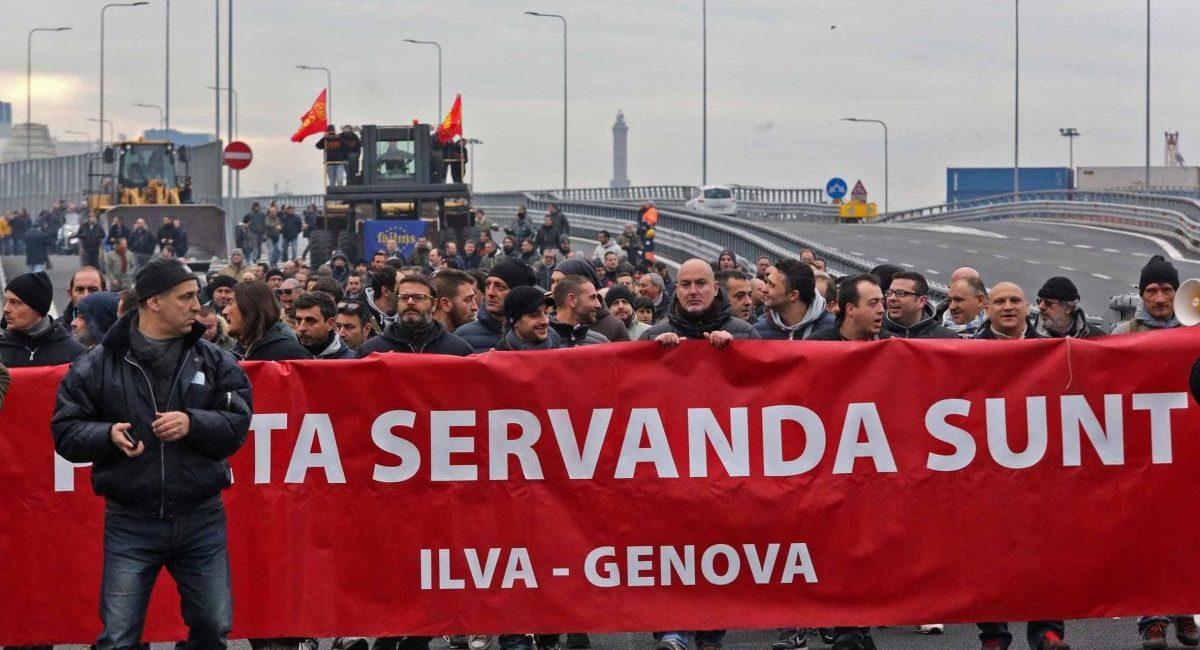 Genova: gli operai Ilva alzano la testa e dicono NO al giogo dei padroni!