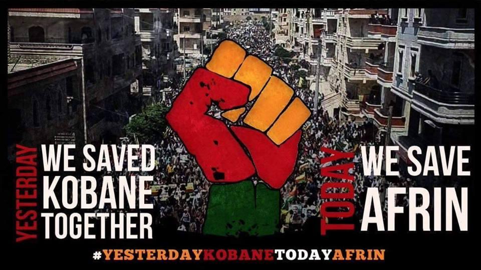 Grande mobilitazione in Svezia in solidarietà con Afrin e il popolo curdo
