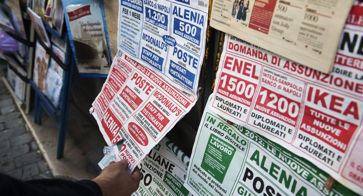 I dati sull'impiego e la disoccupazione reale al 30%: dove cade la coscienza borghese
