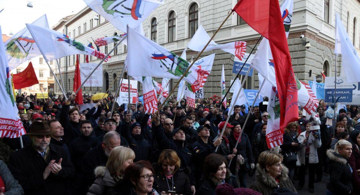 In Slovenia grande sciopero dei dipendenti pubblici