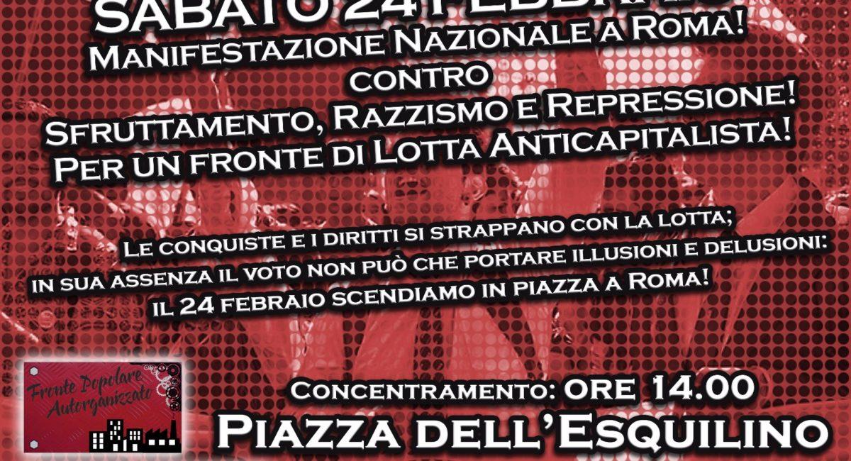 Decreto-Minniti, agguati fascisti e sfruttamento: il 24 febbraio tutti a Roma! Per un fronte anticapitalista!
