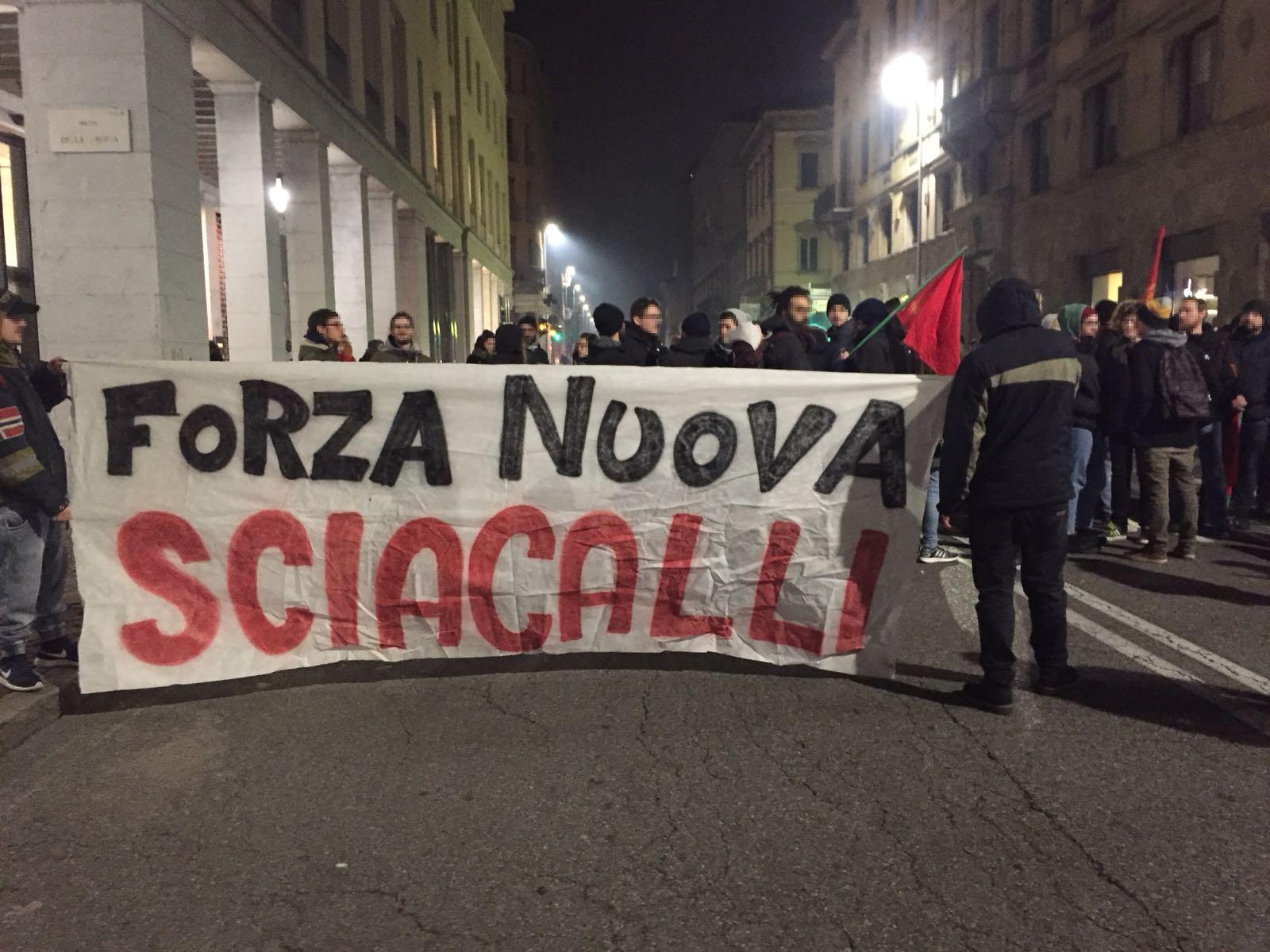 Bergamo: il flop di fascisti e amministrazione