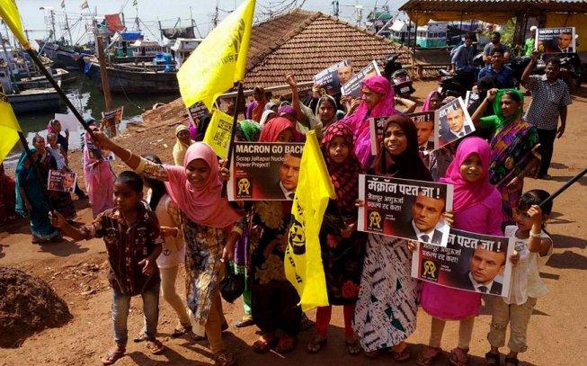 Anche in India si manifesta contro Macron!
