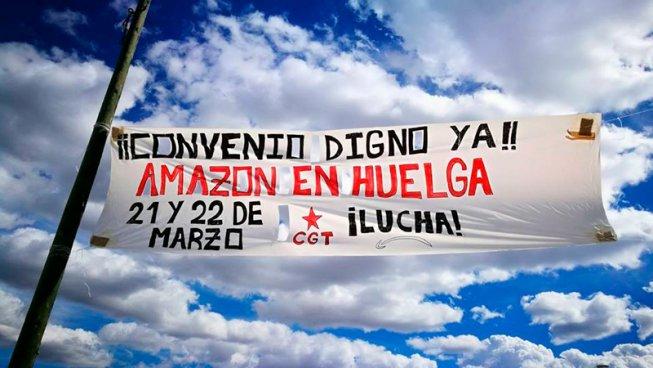 I facchini di Amazon di Madrid scioperano e chiedono la solidarietà internazionale