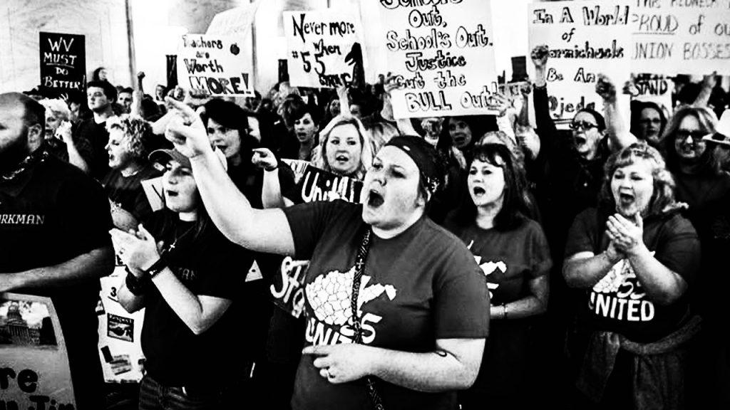 Lo sciopero degli insegnanti nel West Virginia