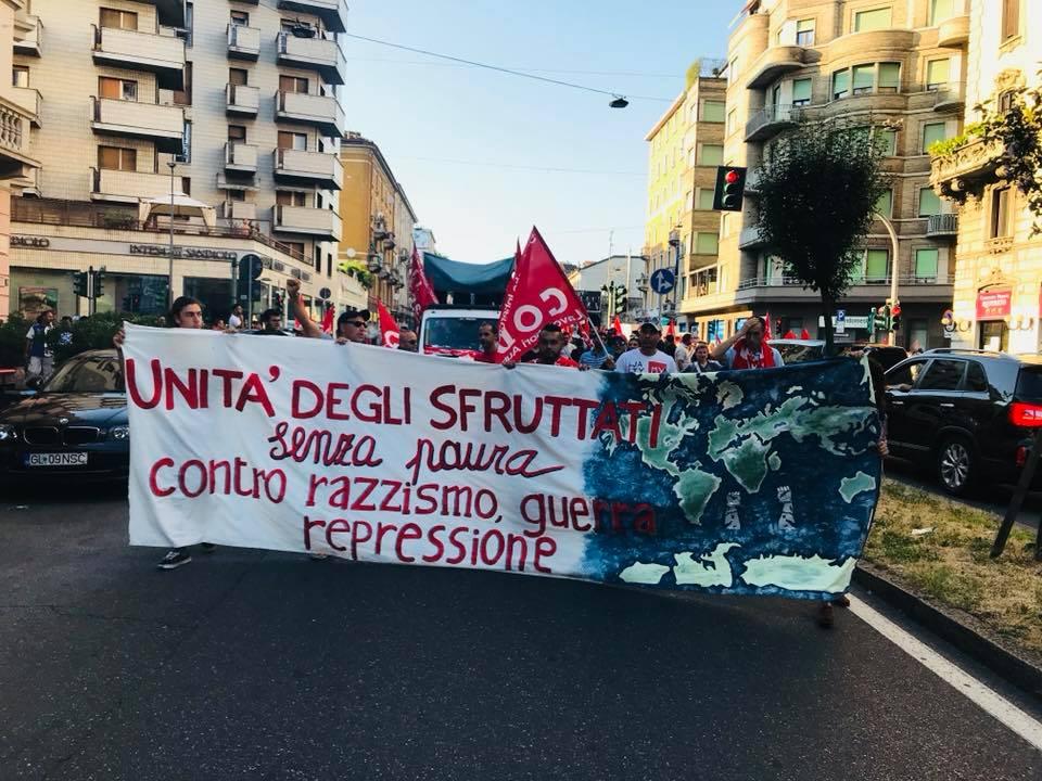 Milano: corteo antirazzista di lavoratori e sinistra radicale