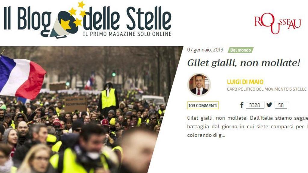 Lega-5Stelle e Gilets Jaunes: analogie di facciata, differenze fondamentali
