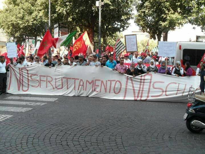 Alessandria: sciopero e presidio dei braccianti agricoli