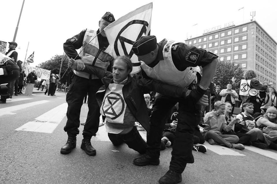 Strade bloccate a Gothenburg per difendere il clima