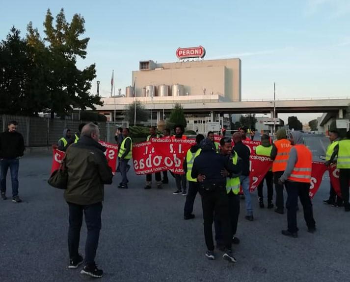 Peroni: sciopero nello stabilimento di Roma!