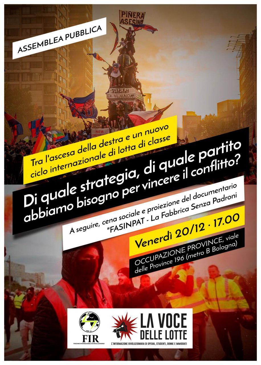 """Questo venerdì, dibattito, cena sociale e proiezione di """"FaSinPat"""" a Roma"""