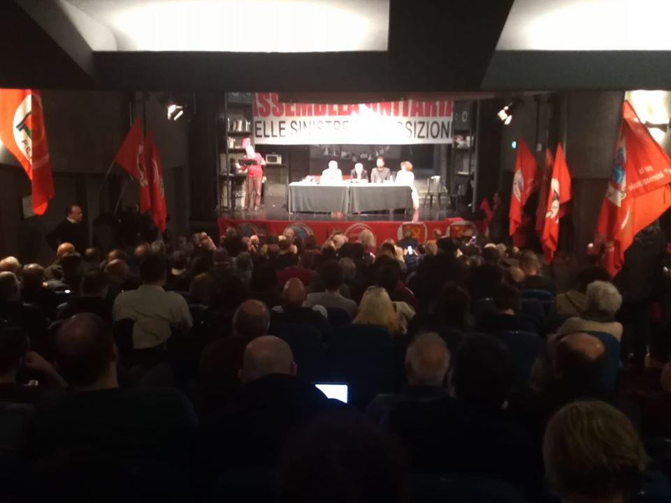 Assemblea unitaria delle sinistre: proposte 3 campagne comuni e una giornata di mobilitazione contro governo e MES