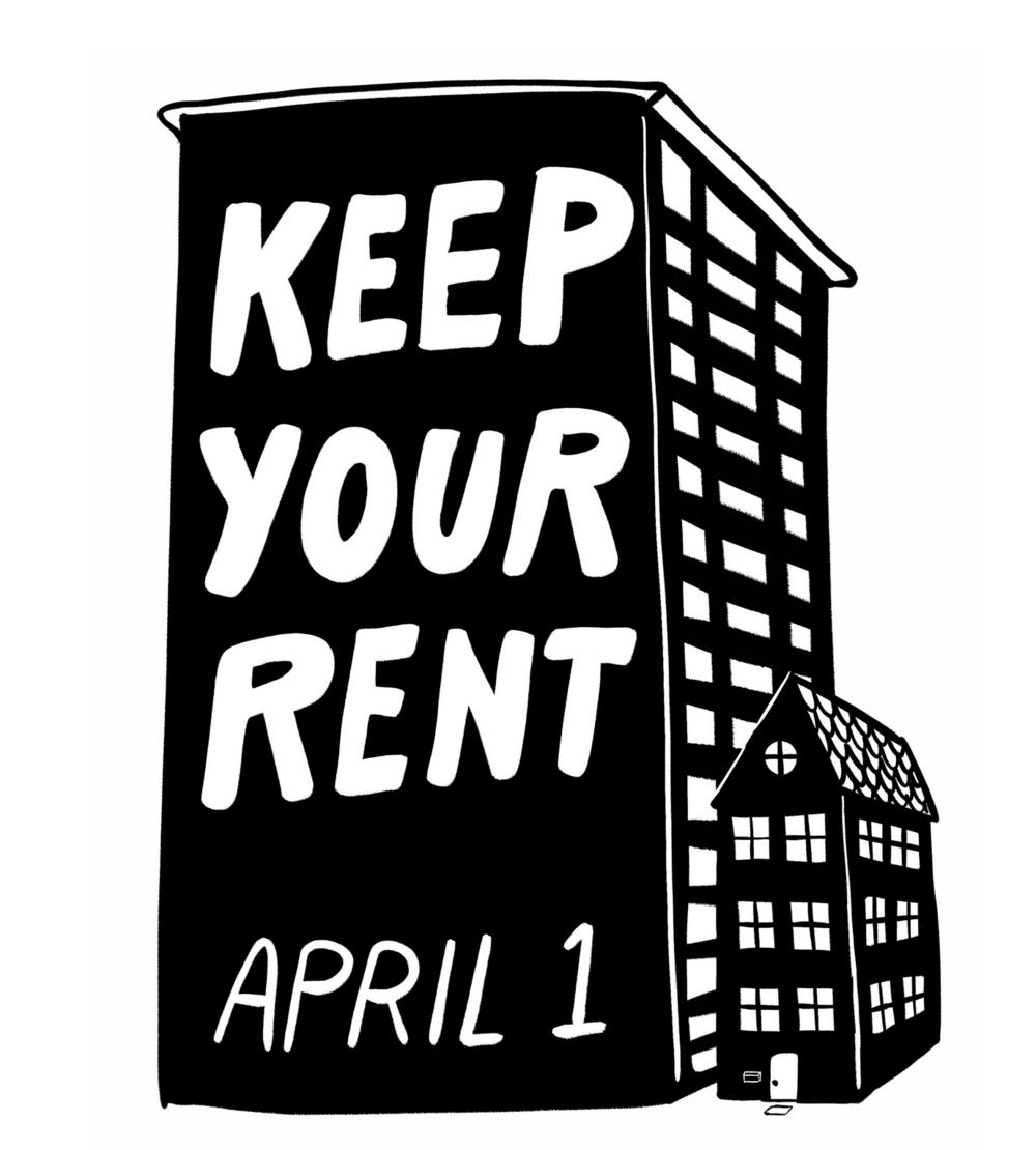 """USA, #Rentstrike: dall'hashtag al """"panno bianco"""", la chiamata allo sciopero degli affitti  si diffonde"""