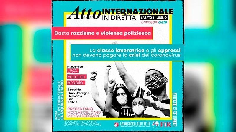 Atto internazionale in diretta: Basta razzismo e violenza poliziesca!