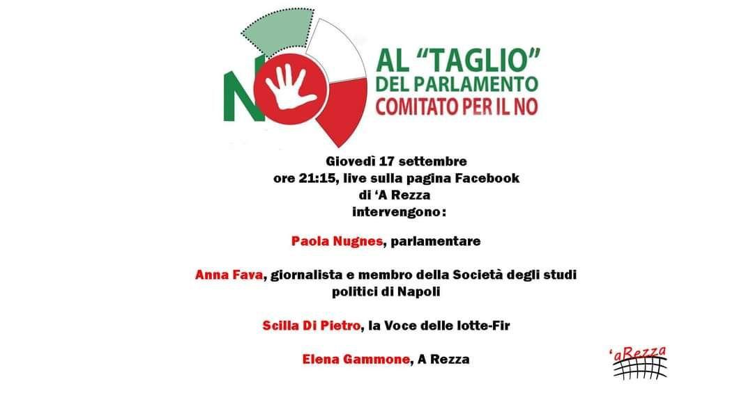 Assemblea virtuale: le ragioni del No al referendum taglia parlamentari