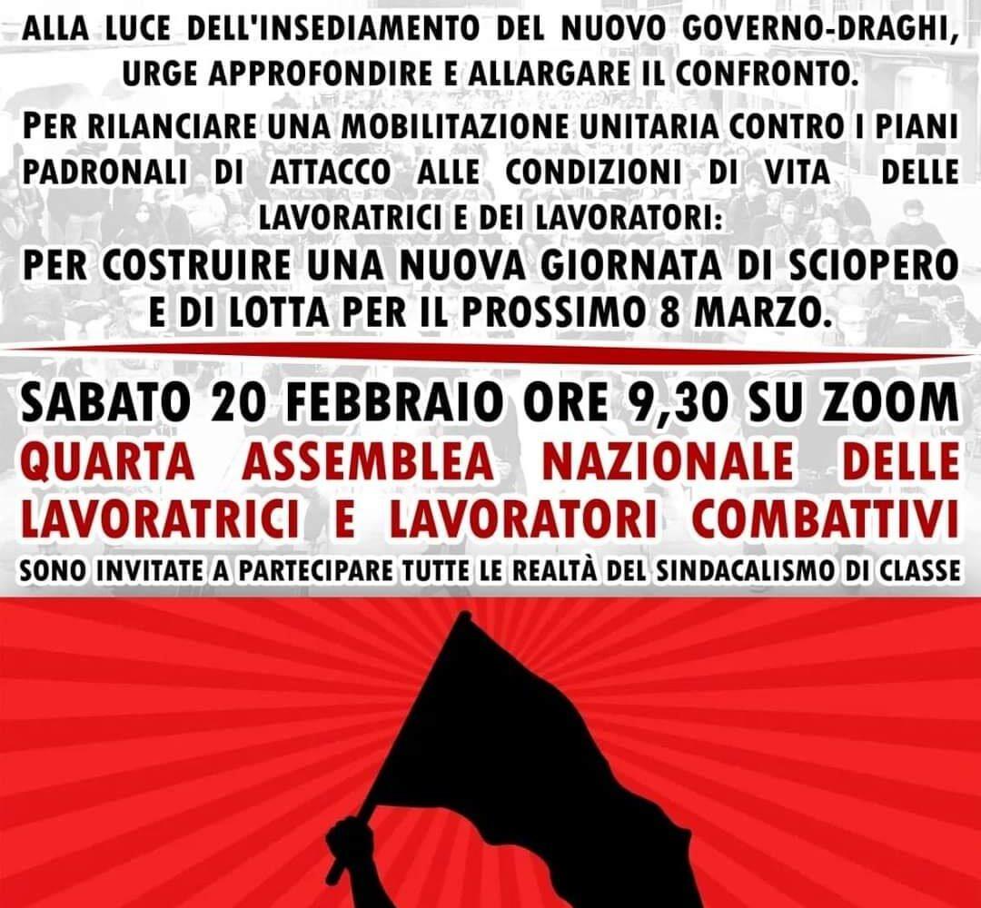 Questo sabato, assemblea nazionale delle lavoratrici e dei lavoratori combattivi!