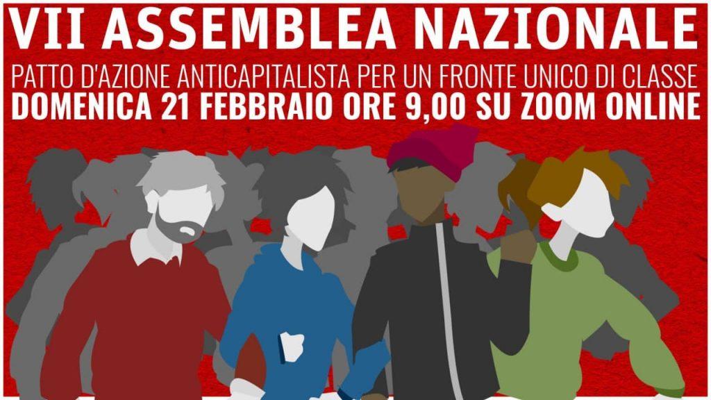 Appello - Domani 7a assemblea del Patto d'azione anticapitalista