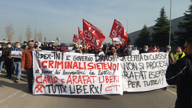 Appello sugli arresti dei sindacalisti a Piacenza