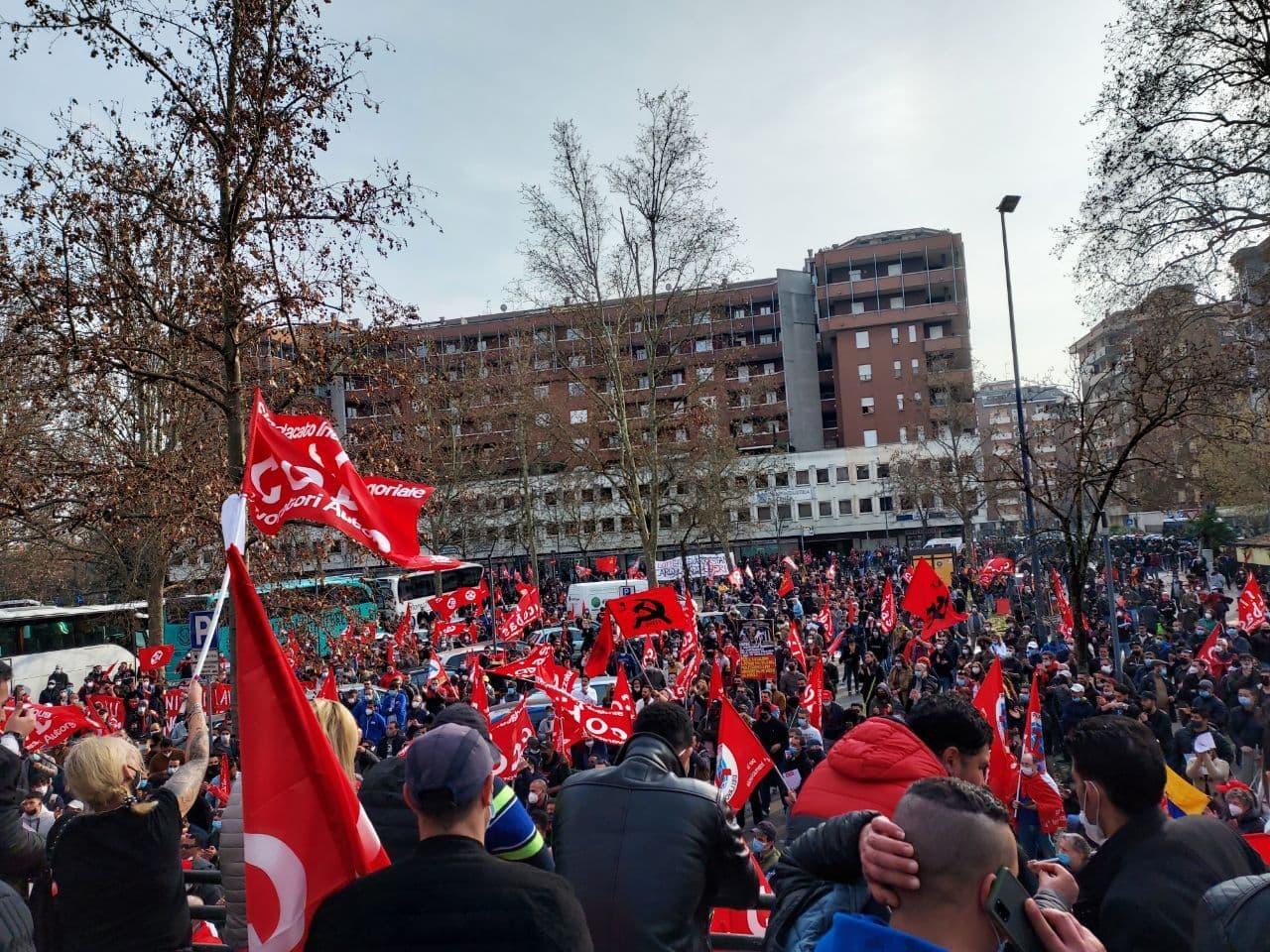 Piacenza: migliaia in piazza contro la repressione della lotta operaia a TNT