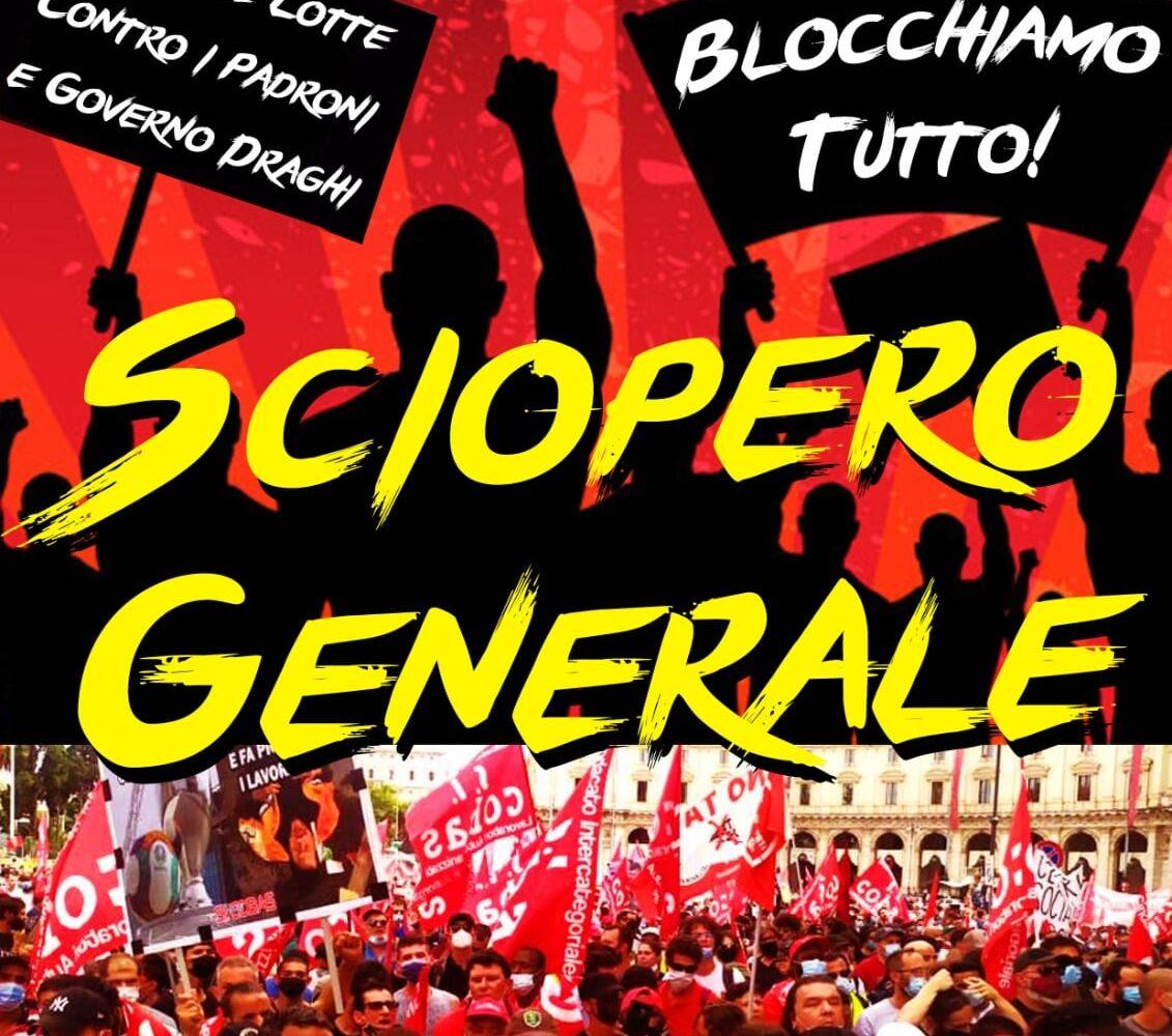 Domani sciopero generale del sindacalismo di base: contro la Cura Confindustria e gli attacchi al movimento operaio, lottiamo!